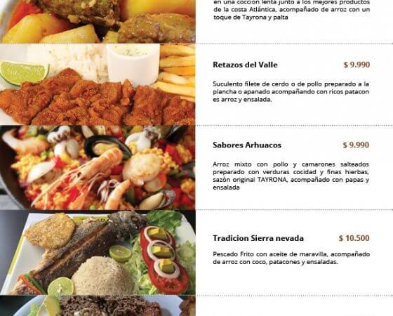 Diseño de carta para restaurante Viña del Mar